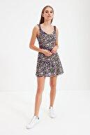 TRENDYOLMİLLA Lacivert Petite Askılı Elbise TWOSS21EL2878