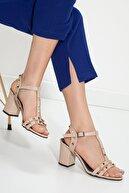 MaskButik Kadın Ten Serena Topuklu Ayakkabı