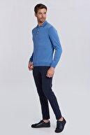 Hemington Mavi Polo Yaka Uzun Kollu Mevsimlik Triko