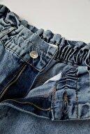Defacto Kadın Mavi Paperbag Yıkamalı Jean Pantolon