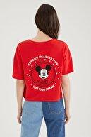Defacto Coool Mickey Mouse Lisanslı Relax Fit Kısa Kollu Tişört