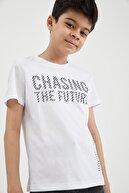 Defacto Erkek Çocuk Yazı Baskılı Kısa Kol T-Shirt