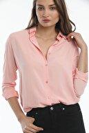 Mossta Kadın Pudra Basic  Gömlek