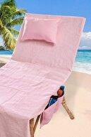 Louis Marie Plaj - Şezlong Havlu Yastıklı Çok Amaçlı Çanta Yastık Takımı Pembe