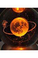 VegaHediye 3d Samanyolu Galaksi Temalı Satürnlü Kız Işıklı Cam Küre