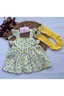 BYMURAT BABY Kız Bebek Mandalina Baskılı 2 Parça Takım