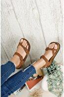 DİGGO Kadın Taba Nubuk Parmak Arası Sandalet
