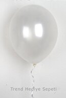 Trend Hediye Sepeti 12 Inç Metalik Beyaz Balon 10'lu
