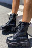 İnan Ayakkabı KADIN SİYAH BOT&BOOTİE&POSTAL 21INA88