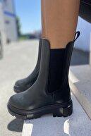 İnan Ayakkabı KADIN SİYAH BOT&BOOTİE&POSTAL 21INA115