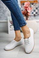 kısmetshoes Kadın Beyaz Ortopedik Günlük Ayakkabı