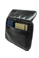 D'VERS Kroko Siyah Macbook Air Pro 13 13.3-14 Inç Darbeye Karşı Korumalı Laptop Çantası