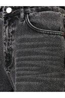Koton Kadın Mom Jean - Yüksel Bel Rahat Kesim Dar Paça Siyah Jean Pantolon
