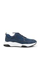 Deery Hakiki Süet Mavi Sneaker Erkek Ayakkabı