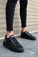 Stepsup Store Siyah Bağcıklı Erkek Sneakers