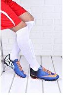 Walked Mavi Turuncu Krampon Futbol Ayakkabı
