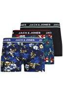 Jack & Jones JACFLOWER TRUNKS 3 PACK.N Siyah Erkek Boxer 101069376