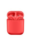 TrkTech Airpods 2. Nesil i12 Kırmızı Bluetooth Kulaklık Muhteşem Ses Performansı