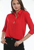 Mossta Kadın Kırmızı Gömlek
