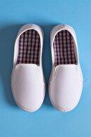WOVS Çocuk Klasik - Günlük Ayakkabı - Keten Ayakkabı- Beyaz