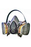 3M 6200 Gaz Maskesi Standart Beden +6059 Abek1 Filtre Dahil Set