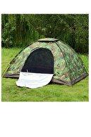 Papakudi 6 - 7 Kişilik 220x250x150 Ölçülerinde Kamp Çadırı Tatil Deprem Kamuflaj