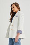 PAULMARK Kadın Kol Detaylı Ceket