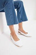 Trendyol Shoes Beyaz Kapitone Kadın Babet TAKSS21BE0014