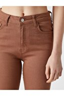 Koton Kadın Carmen Jean - Yüksek Bel Dar Kesim Dar Paça Pantolon
