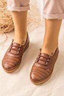 Lal Shoes & Bags Kadın Ortopedik Rahat Babet Spor Ayakkabı-taba