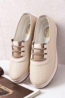 Lal Shoes & Bags Kadın Rahat Ortopedik Babet Ayakkabı-krem