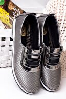 Lal Shoes & Bags Kadın Ortopedik Rahat Babet Spor Ayakkabı-gri