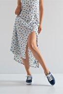 GRADA Hakiki Deri Lacivert Efektli Deri Kadın Spor Sneaker Ayakkabı