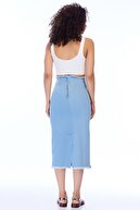 Pitti Kadın Buz Mavisi Etek 20942