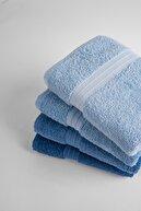Tertio Rainbow %100 Pamuk Ekstra Yumuşak Mavi Tonlar 4'lü El/Yüz Havlu Seti(4*50x80)