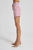 CROSS JEANS Diana Renkli Yüksek Bel Paçası Kesikli Mini Şort C 4534-017