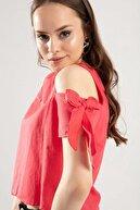 Pattaya Kadın Omzu Oyuk Kolu Fiyonklu Bluz Y20s102-1007-4