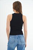 Pattaya Kadın Siyah Fitilli Kaşkorse Bluz P21s201-2520