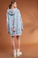 Pattaya Kadın Çiçekli Oversize Elbise Sweatshirt Y20w110-4125-6