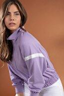 Pattaya Kadın Şerit Detaylı Crop Fermuarlı Spor Hırka Y20w126-10678