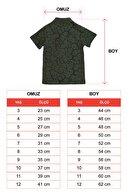 zepkids Erkek Çocuk Haki Polo Yaka T-shirt Matter Nakışlı 3-12 Yaş