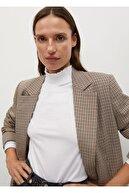 Mango Kadın Beyaz Balıkçı Yakalı Organik Pamuklu Tişört