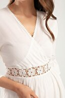Pattaya Kadın Güpür Detaylı Çapraz Elbise Y20s134-1666