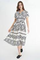 Pattaya Kadın Kuşaklı Kısa Kollu Elbise P21s110-6022