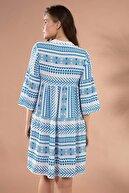 Pattaya Kadın Etnik Desenli Hakim Yaka Mini Elbise Y20s110-1975