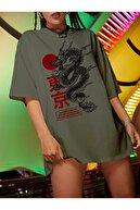 Millionaire Kadın Haki Warrior Oversize T-shirt