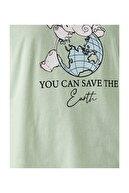 Koton Kadın Yeşil T-Shirt 2KAL18064IK
