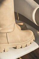 I Love Shoes Armenno Mat Deri Kalın Taban Çizme Ten