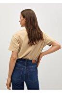 Mango Yazılı  Pamuklu Kadın T-Shirt