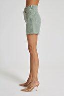 CROSS JEANS Diana Renkli Yüksek Bel Paçası Kesikli Mini Şort C 4534-015